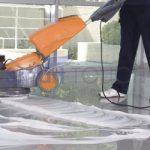 Floor Sanding the Marble